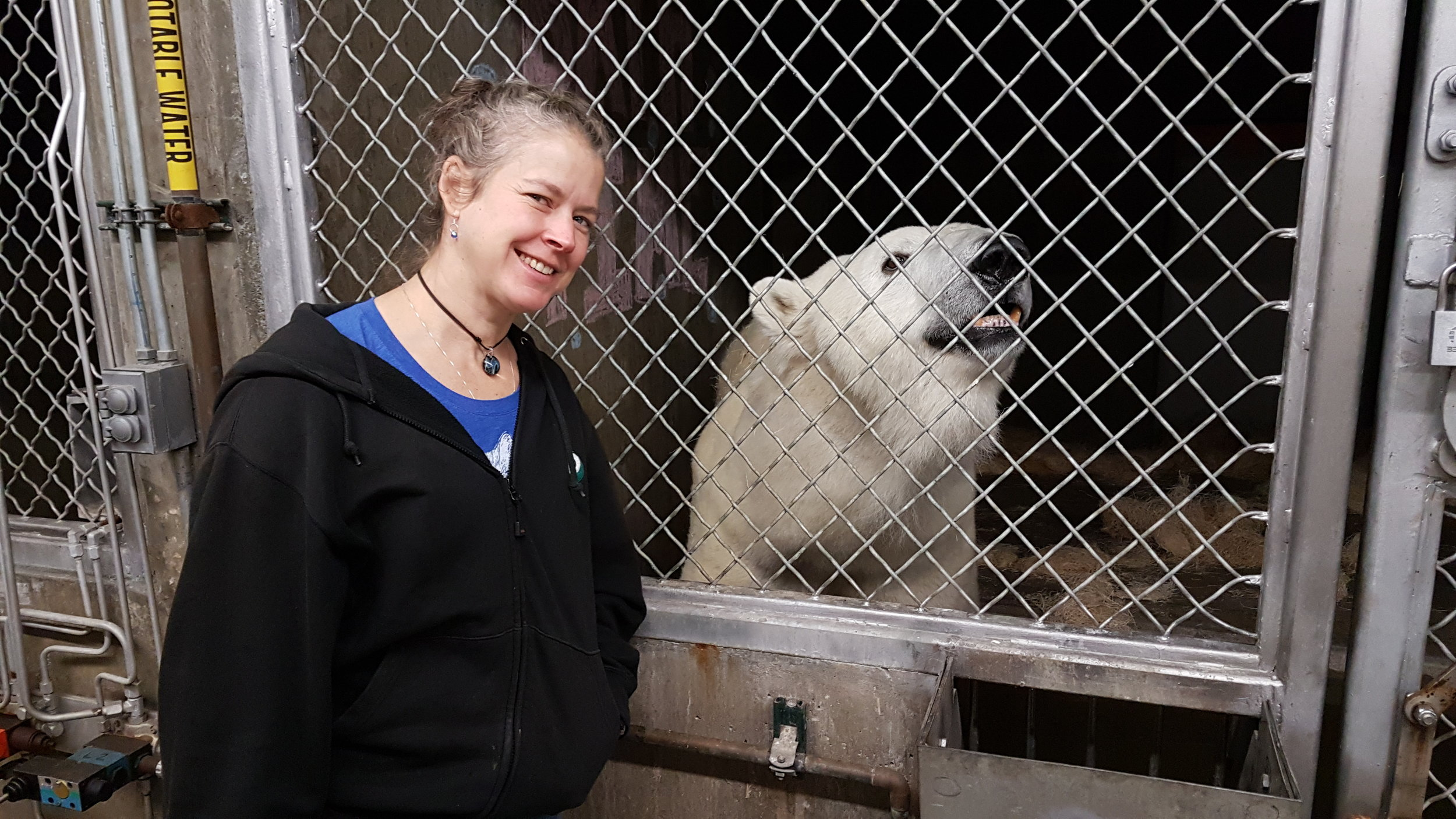 Beth and Cranbeary meeting for the first time. We can't wait to welcome Cranbeary to her new home!