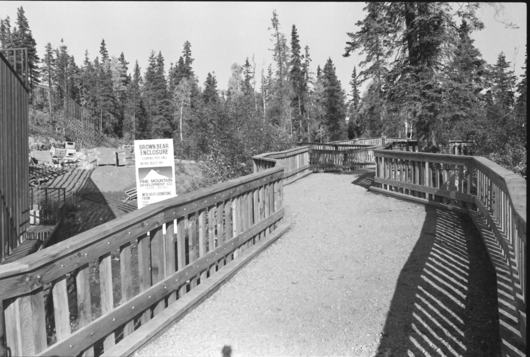 Brown Bear habitat under construction before it opened in 1983 to house Jake and his late sister Jackie.