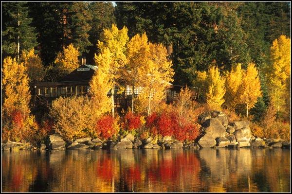 Fall Colors in Rocky Point, Ore. - Image: Point Comfort Lodge, http://bit.ly/2eUeWxq