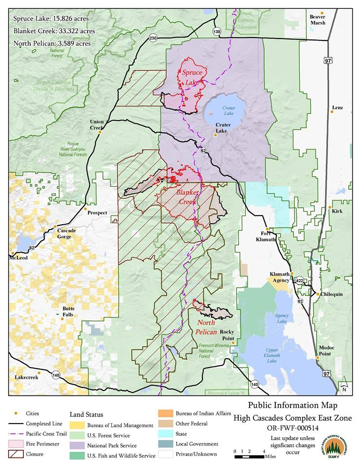 High Cascades Complex East Zone Map Last Update
