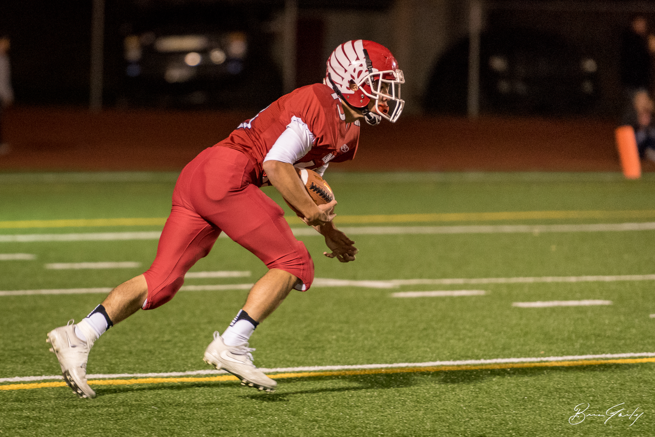 The Klamath Union kick returner only fielded a few returns thanks to the relentless pursuit of onside kicks from Henley.