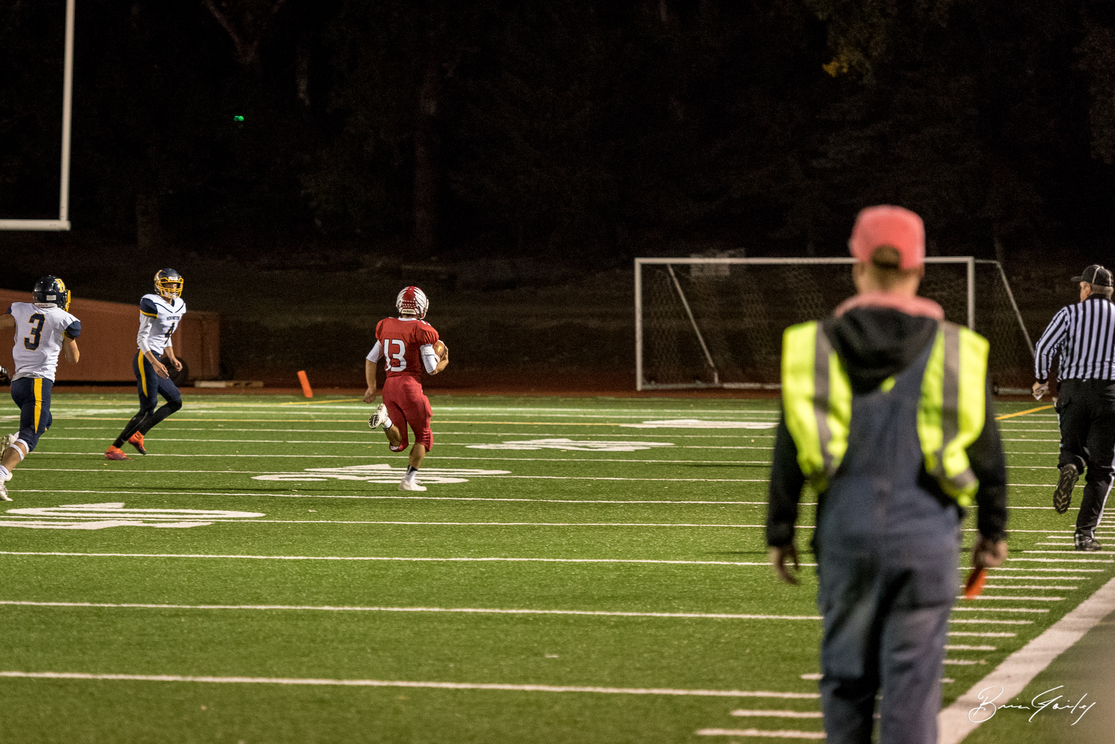 KU's #13 Jaden Quintanella found the perfect lane down the field for this kick off return for a touchdown against Henley.