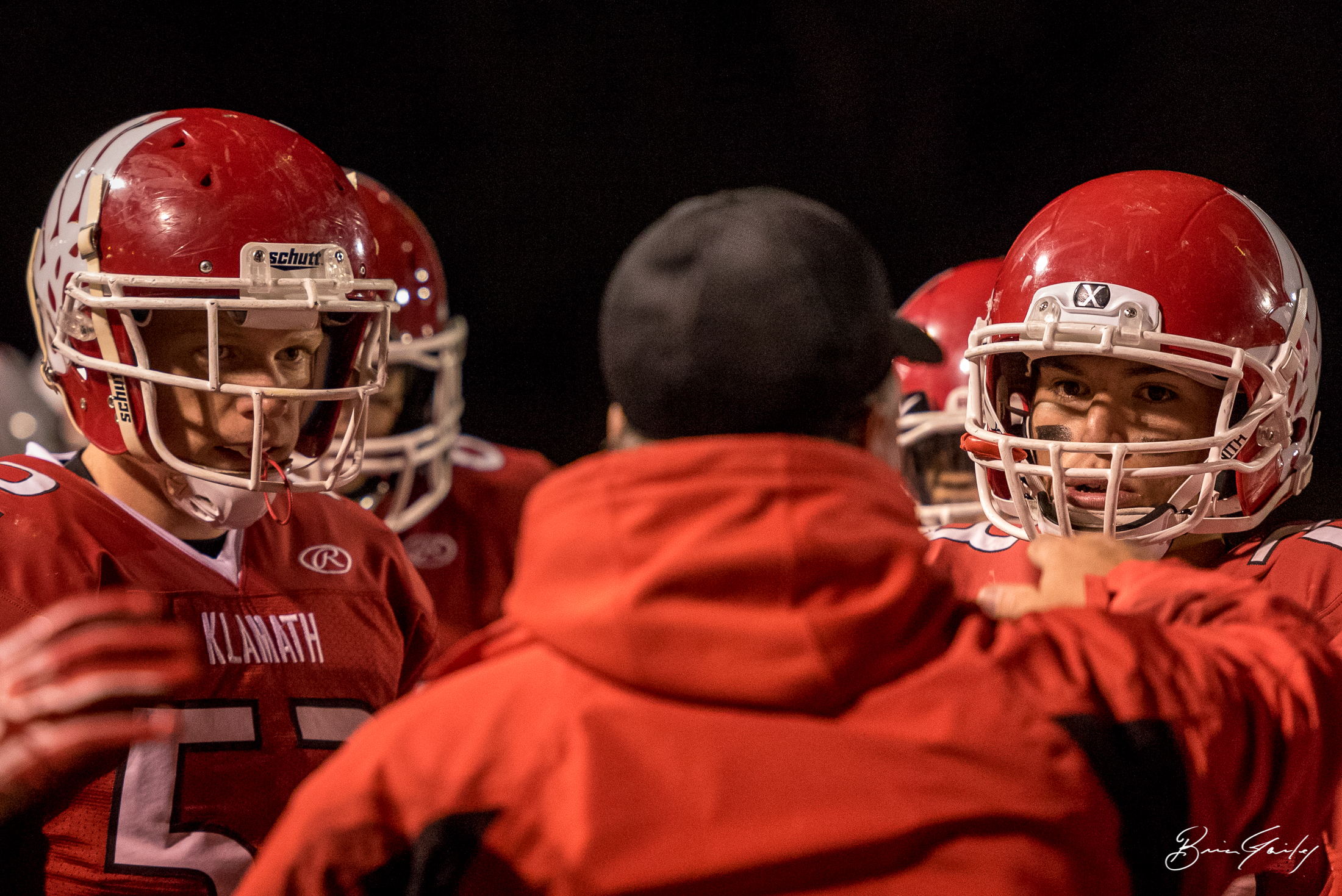 A Klamath Union coach is teaching up his players before heading back on the field.