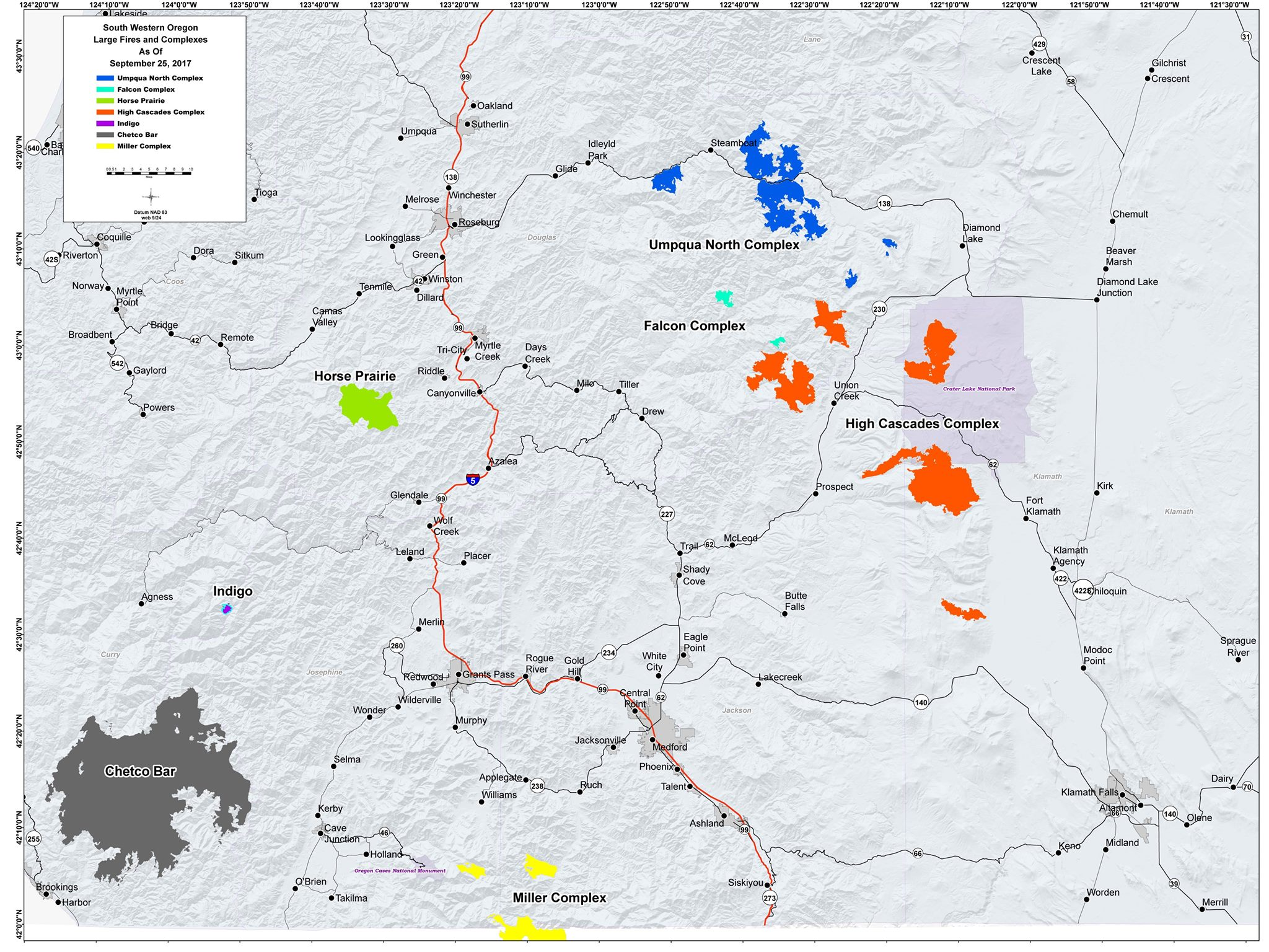 Southern Oregon Fire Map (Inciweb)