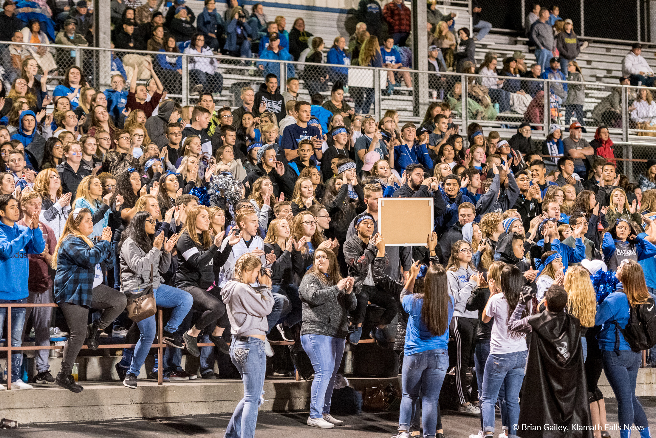The Mazama Student Section came out in force to cheer on the Vikings at home. ( Brian Gaile)