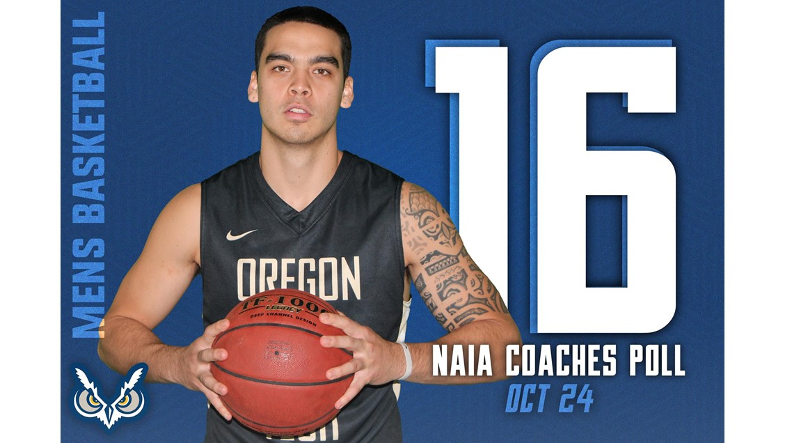 Oregon Tech Mens Basketball, Ranked 16 in NAIA Coaches Poll for Oct 24.