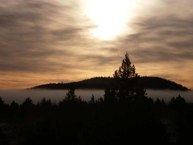 Foggy Sunrise at Lava Beds (nps.gov/labe)