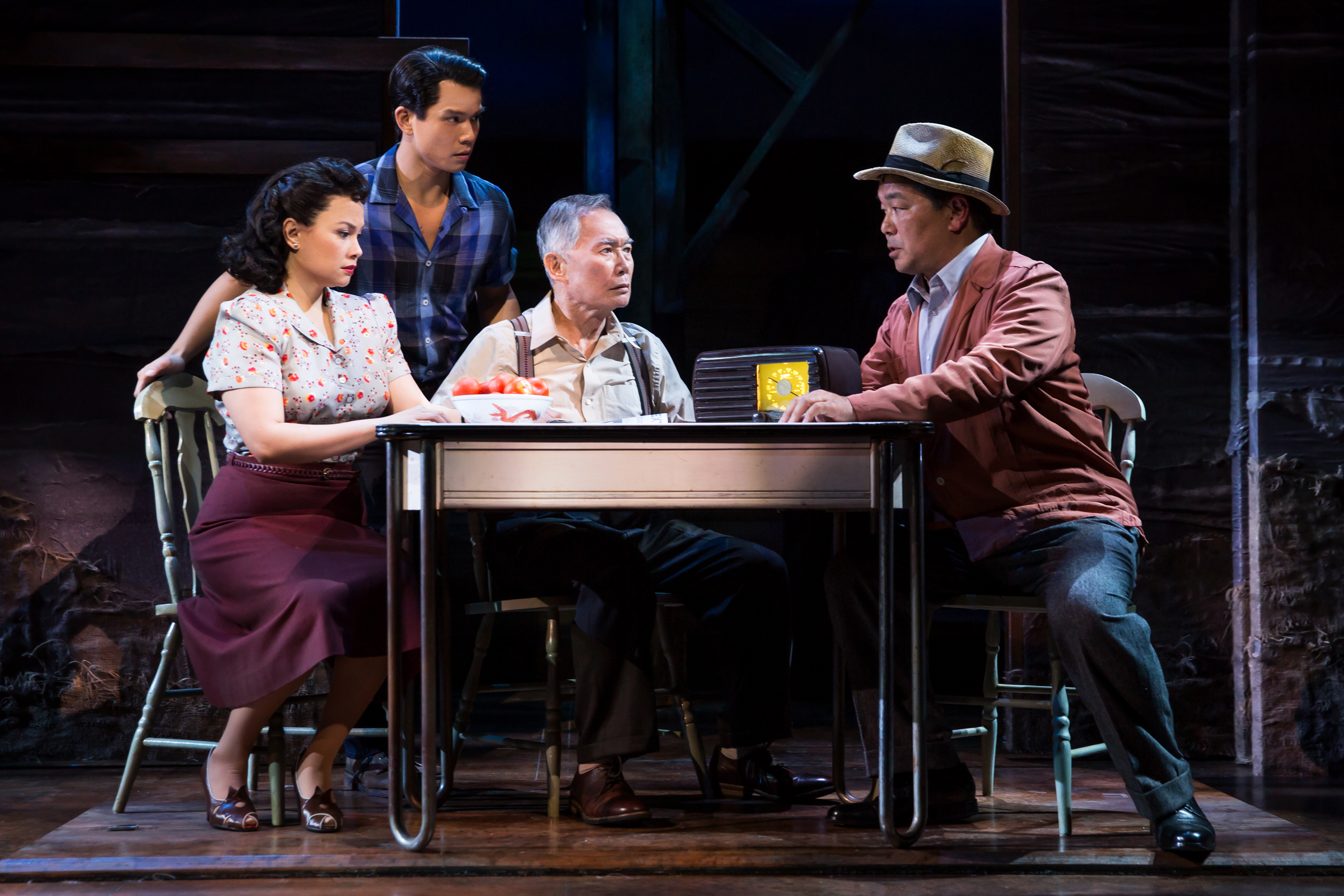 """George Takei, center, is among the leading figures in the film """"Allegiance,"""" which recalls the experience of a Japanese-American family incarcerated during World War II. The film will be shown Dec. 7 at Pelican Cinemas in Klamath Falls."""