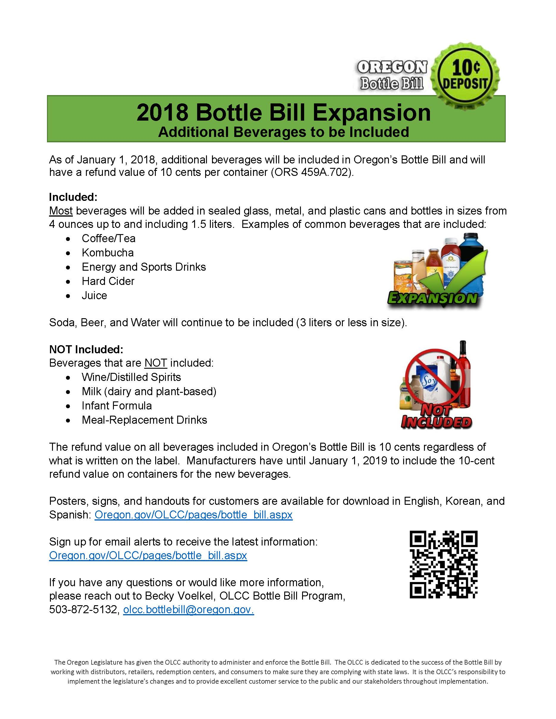 2018 Bottle Bill Expansion (Click for larger)