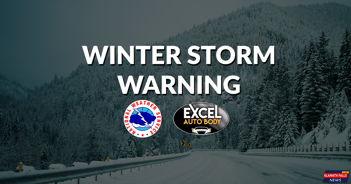 Winter Storm Warning, Siskiyous / Winter Weather Advisory, Cascades Sunday, Jan 21, 2018, 4:00 AM to Monday, Jan 22, 2017, 1:00 AM