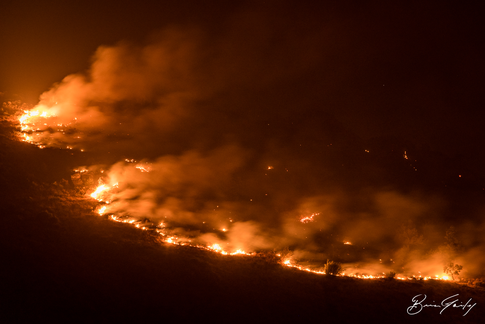 File Photo of the Naylox Fire, August 2018 (Brian Gailey)