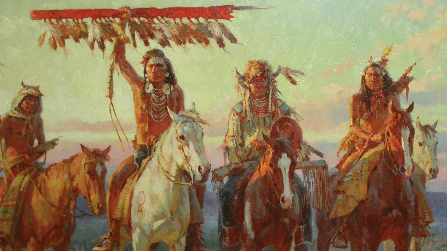 """""""We are a Horse Nation"""" by Rowy Anderson shown at the Favell Museum in Klamath Falls, Ore. (Favell Museum)"""
