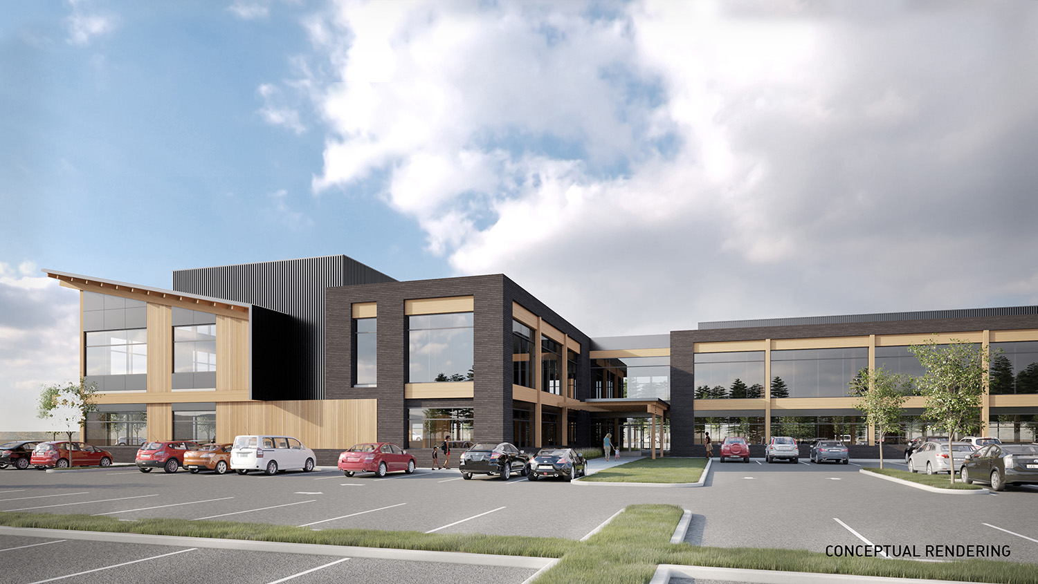 Conceptiual Rendering of proposed DHS office at the TimberMill Shores development. (Submitted)