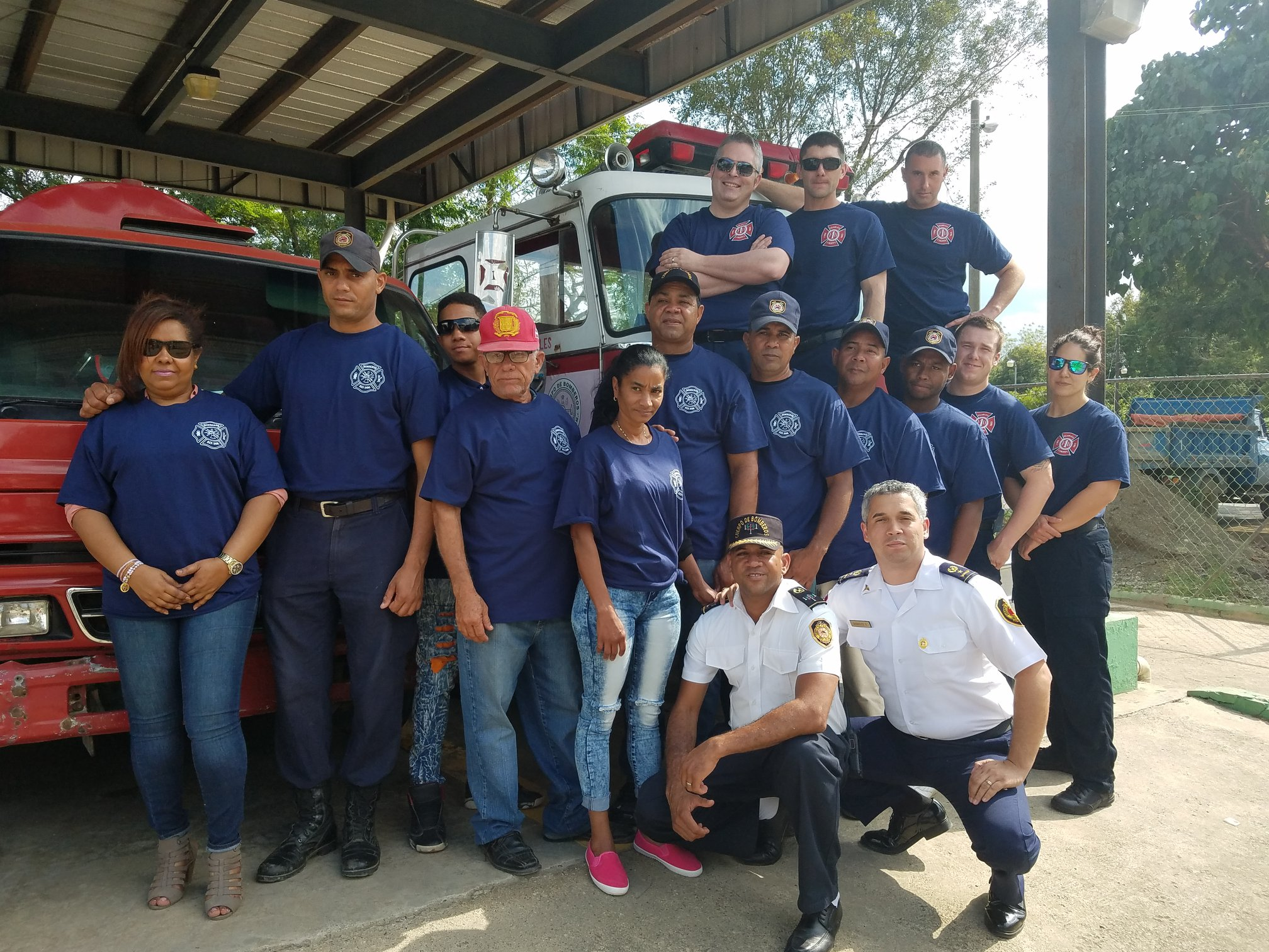 Five Klamath County Fire District #1 employees spent a week in the volunteering Dominican Republic. (KCFD1,  Facebook )