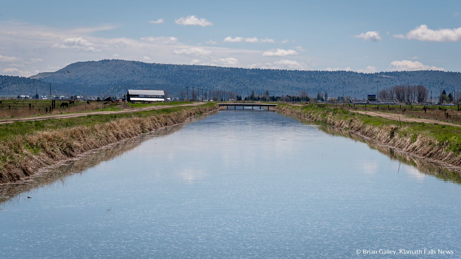 KID was forced to shut down the A-Canal following a notice from the Bureau of Reclamation that waster is no longer available from Upper Klamath Lake. (A-Canal File Photo, Brian Gailey)