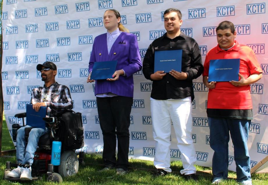 The students celebrated at the event on June 8 are (right to left): Ty Dougan, Alex Flores, Kaleb Lakey and Stephan Williams (Samantha Tipler).