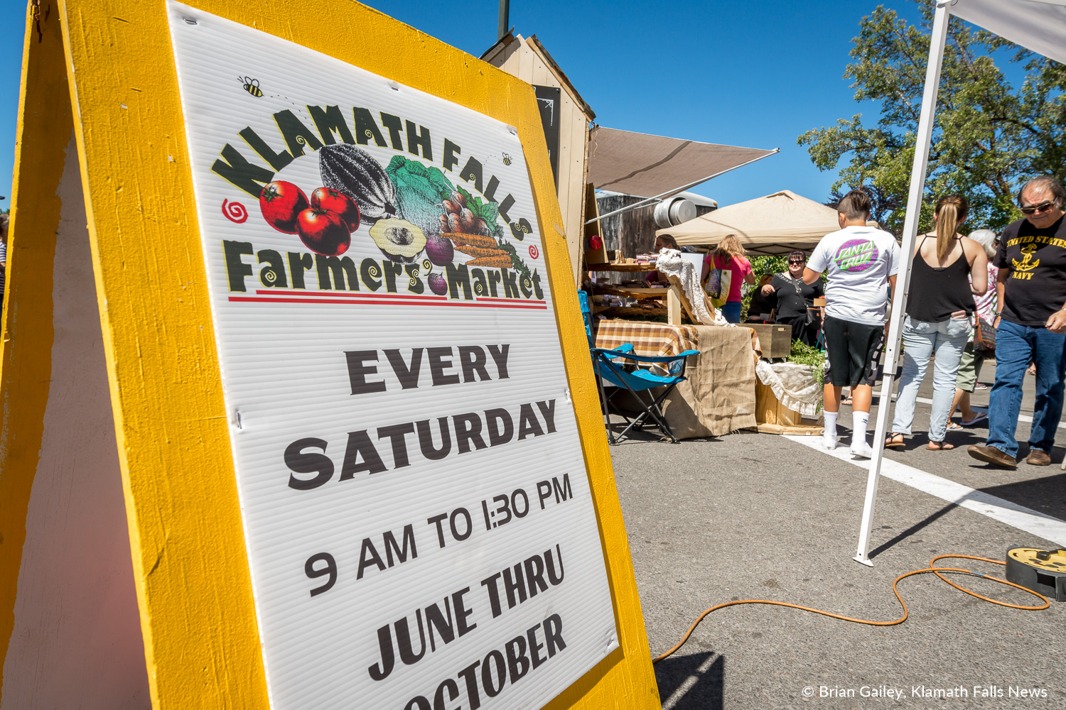 The Klamath Falls Farmers' Market - Every Saturday 9:00am to 1:30pm, June through October.