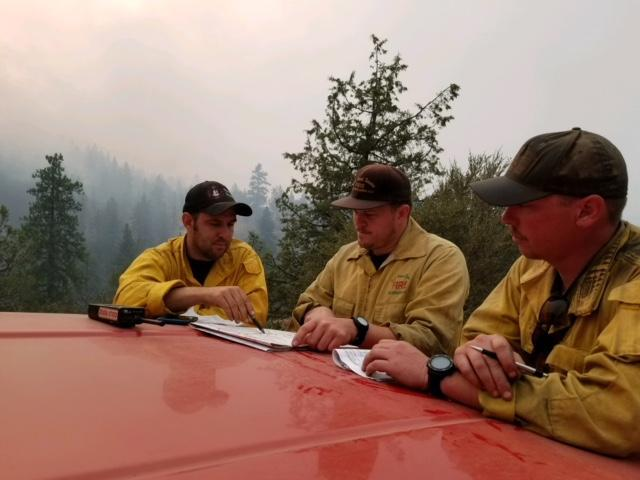 Division briefing from the Stone Fire. Aug. 21, 2018 (Inciweb)