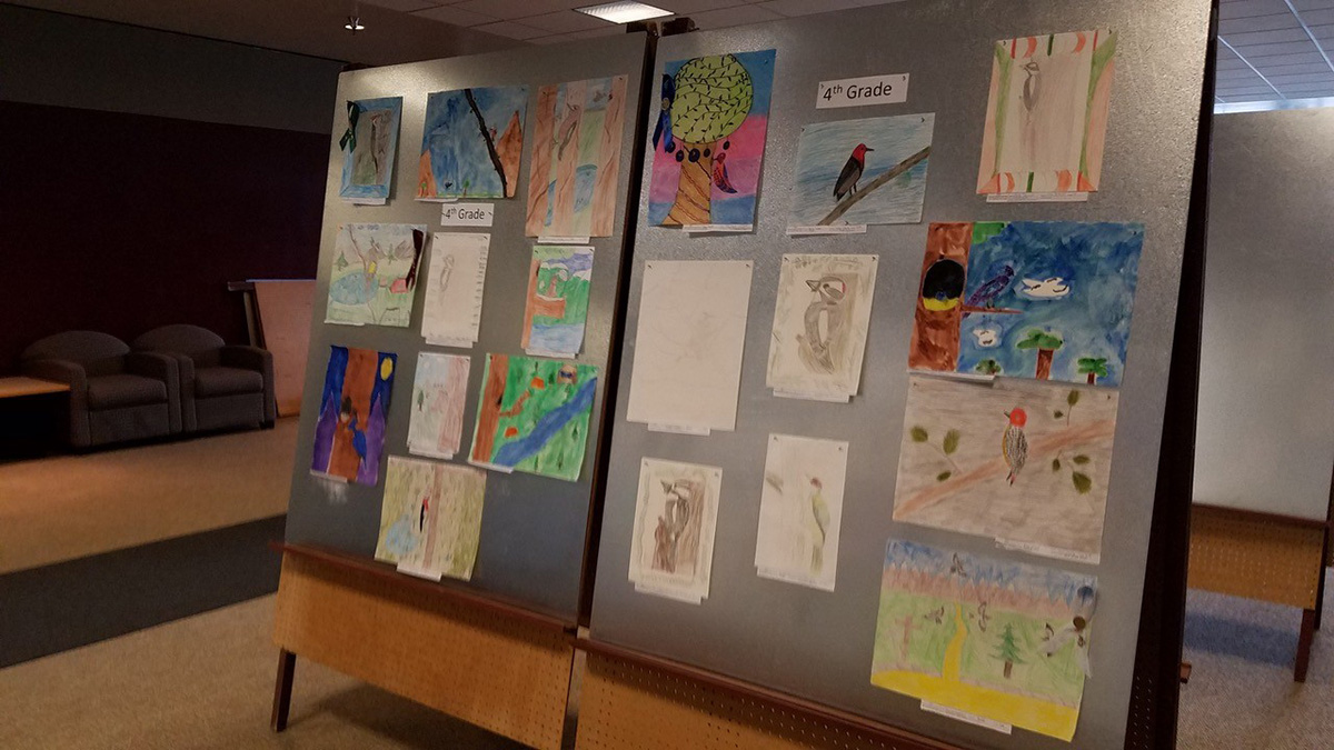 4th Grade entries from the 2018 Winter Wings Festival youth art contest.