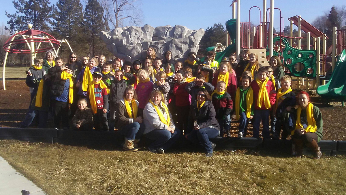 Students and staff from Sage Community School celebrated School Choice week with a movie at Pelican Cinemas and lunch at Moore Park in Klamath Falls. (Submitted photo)