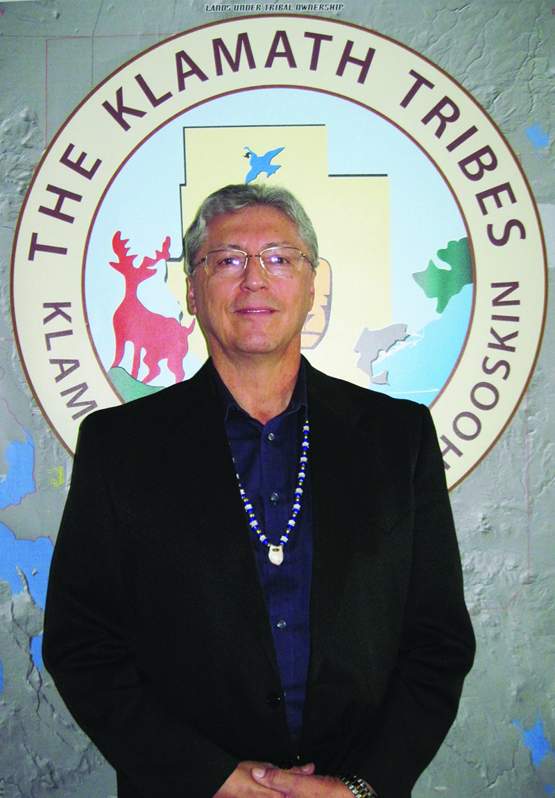 Don Gentry, Chairman of the Klamath Tribes.