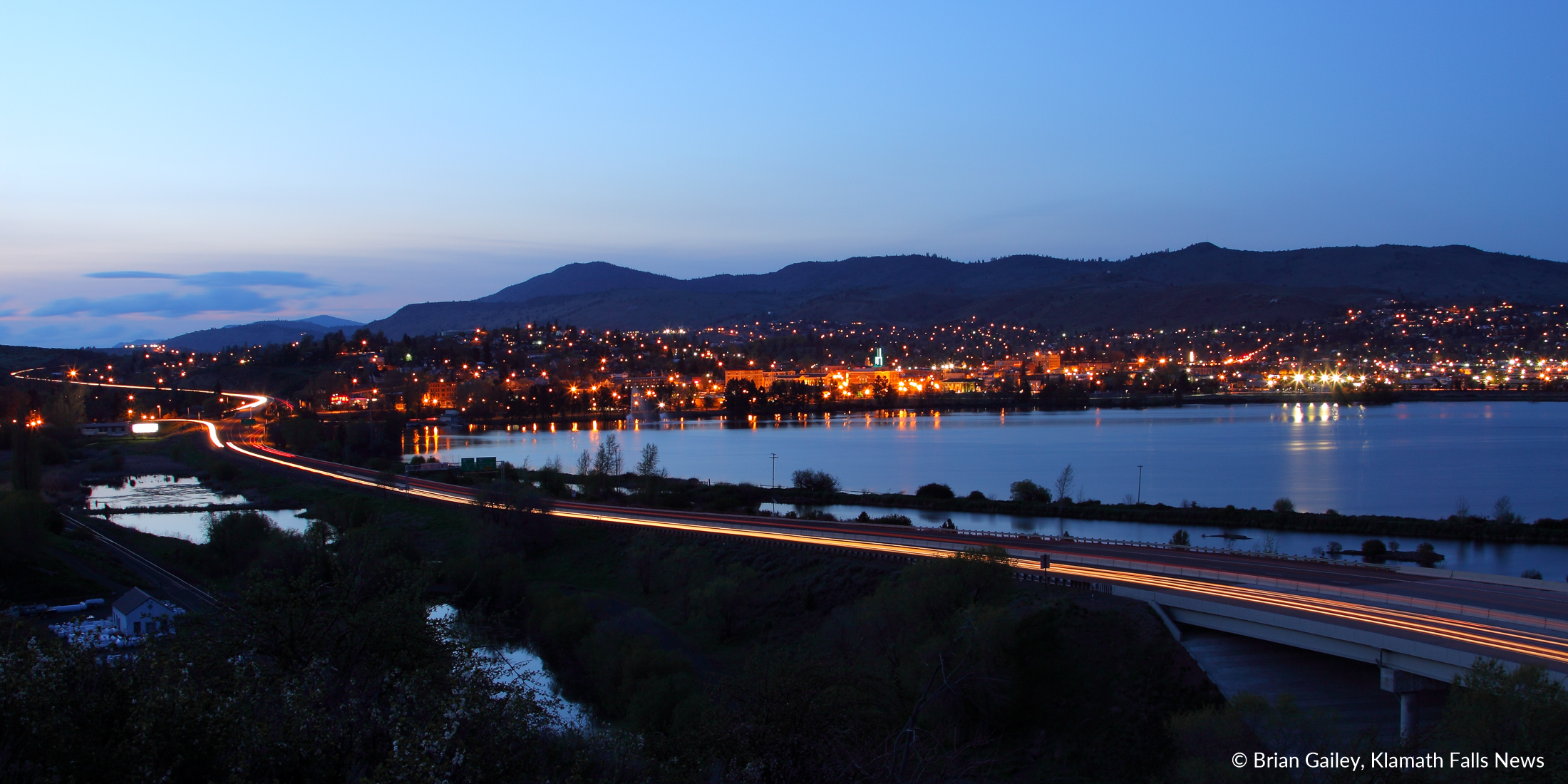 File Photo - Downtown Klamath Falls as seen from Riverside Drive. (Image by, Brian Gailey)