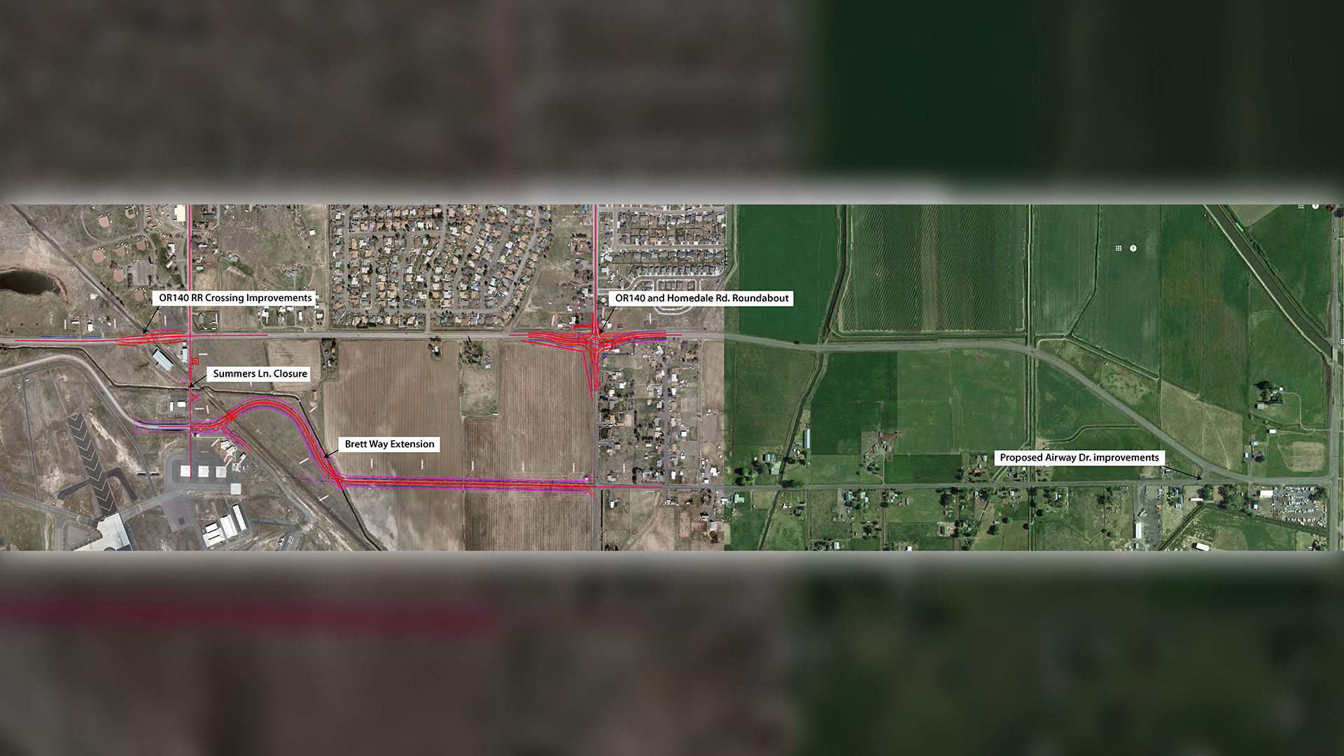Map of the Brett Way Extension Project. (ODOT)