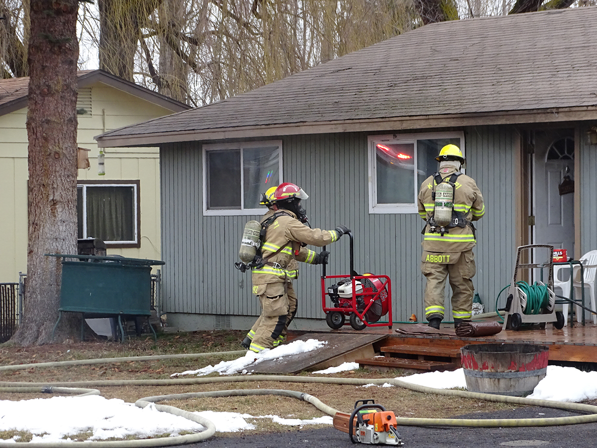 KCSD1 Firefighters work to extinguish a structure fire inside a residence on Derby Place. March 6, 2019 (Submitted Photo)