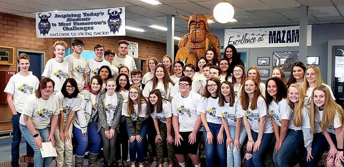Forty Mazama High School freshmen signed STEM&M contracts Wednesday during an induction ceremony into the science, technology, engineering,mathematics and medicine academic pathways. Mazama and Oregon Institute of Technology are partners in the STEM&M program.