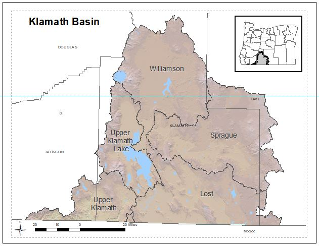 DEQ will sample groundwater quality in the Klamath Basin in fall 2019 as part of a statewide groundwater quality study.