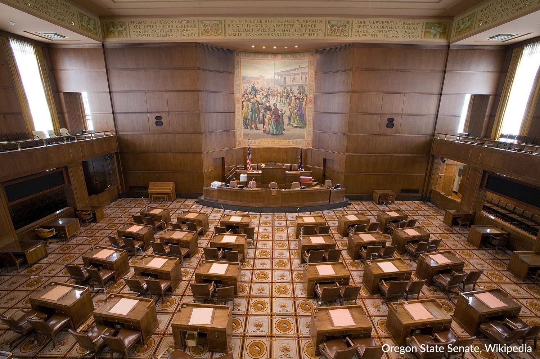 File Photo, Oregon State Senate Chamber. (Wikipedia)