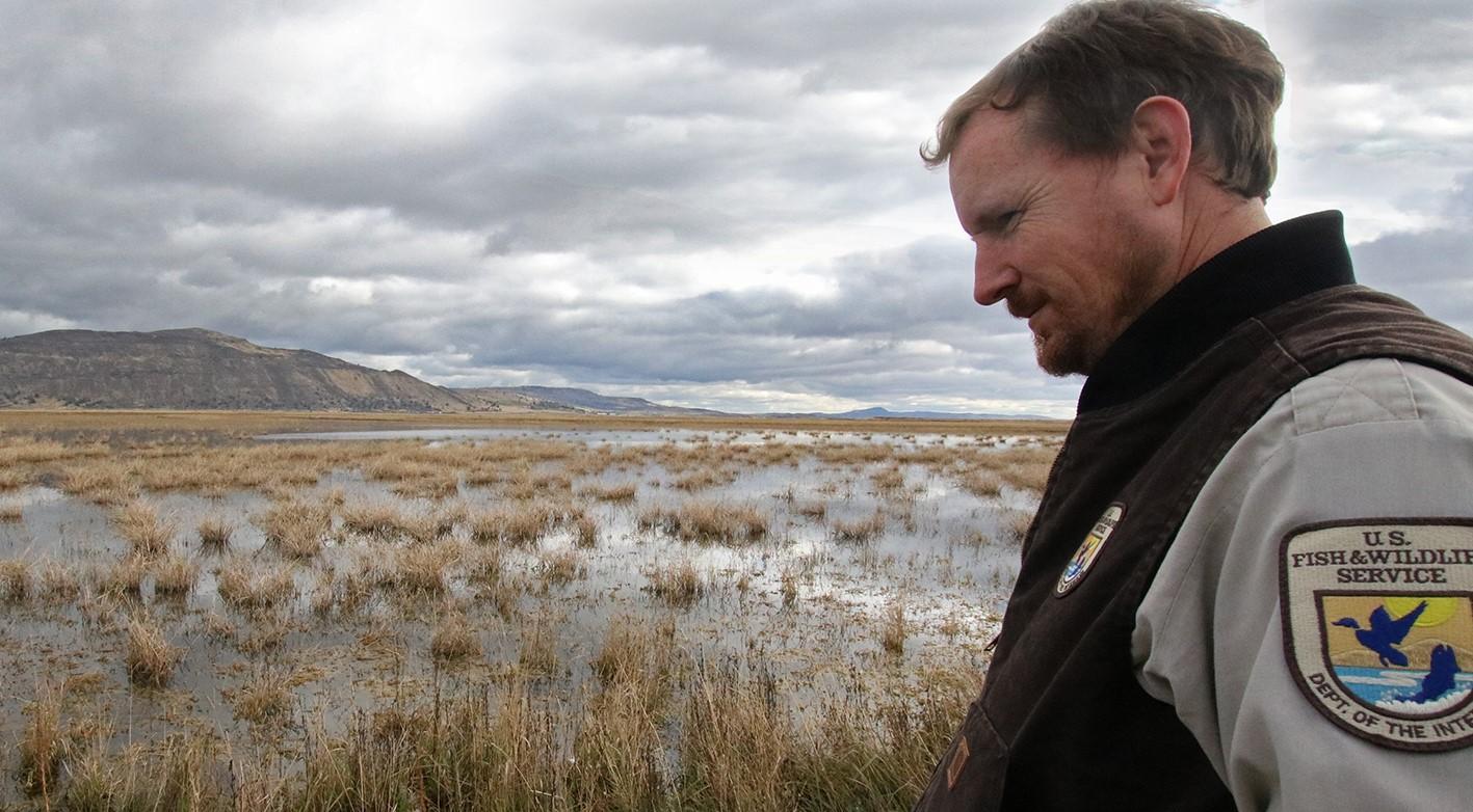 Dustin Taylor, FWS cooperative farm lease lands program manager. (USFWS)