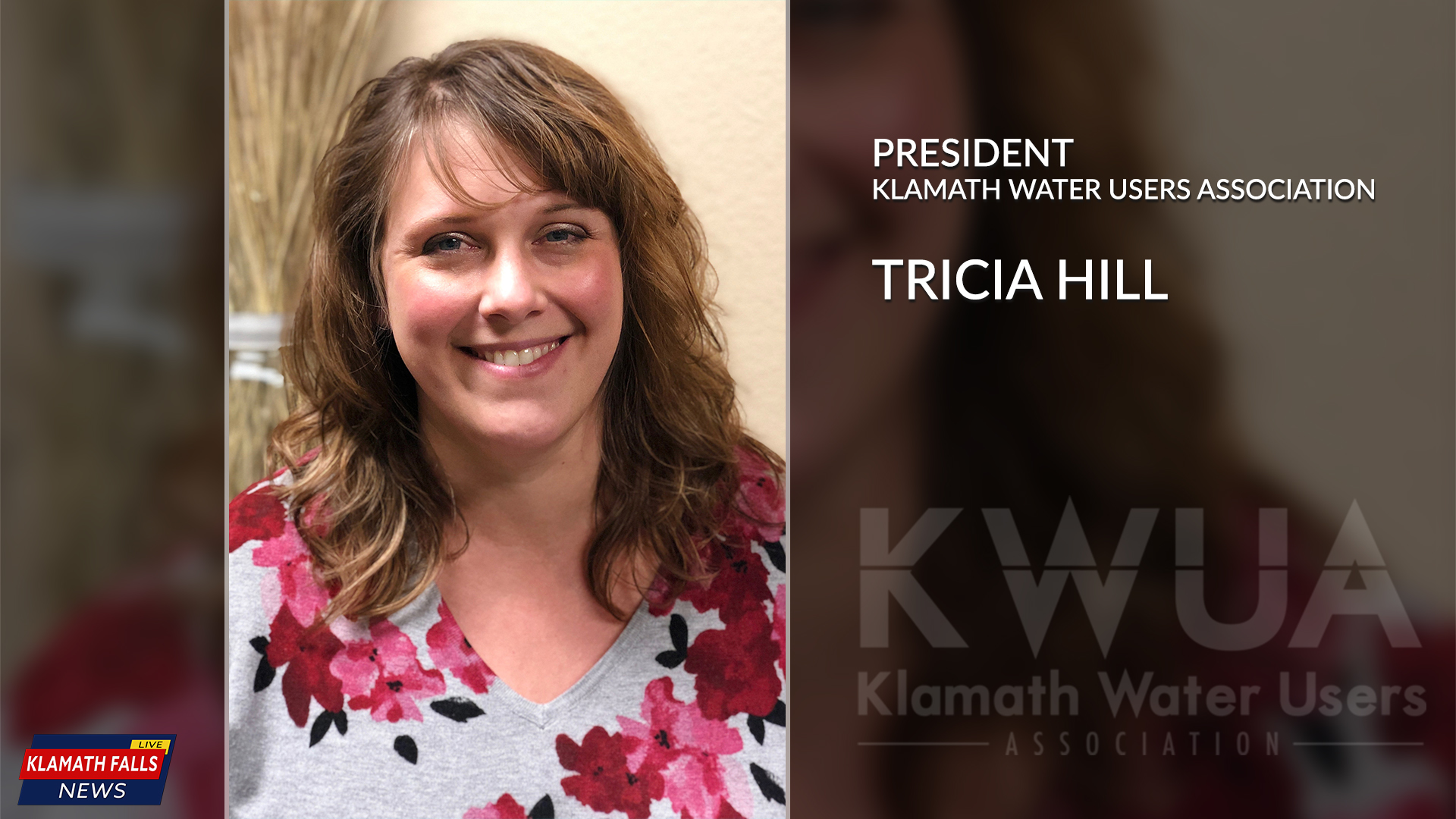 Tricia Hill has been elected as the first woman President of the Klamath Water Users Association (Photo by, Chelsea Shearer)