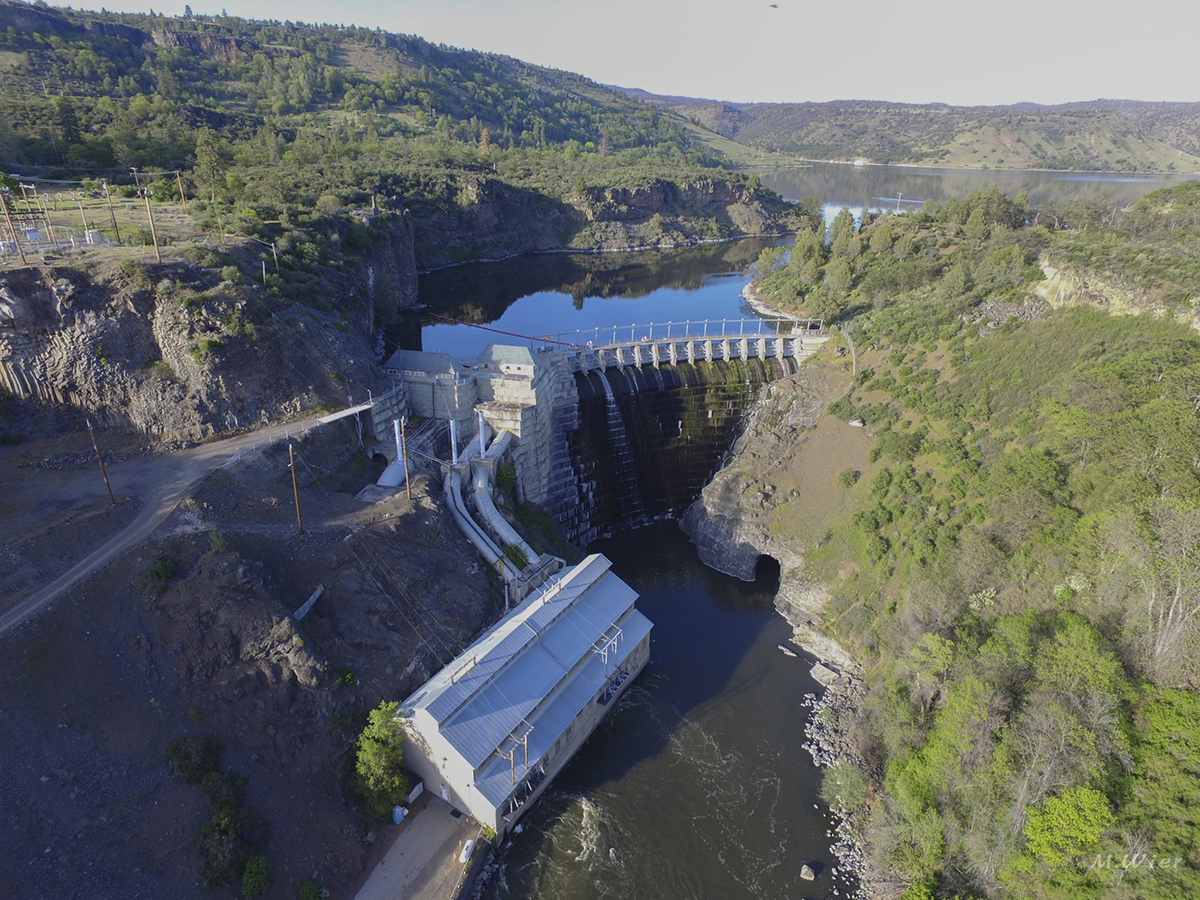 Copco 1 on the Klamath River is one of four dams slated to be removed by KRRC and contractor Kiewit. (Image, Michael Wier)