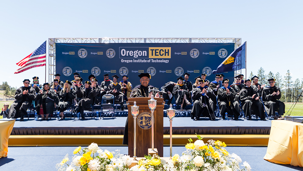 File photo, Oregon Tech commencement ceremony. (Submitted photo)