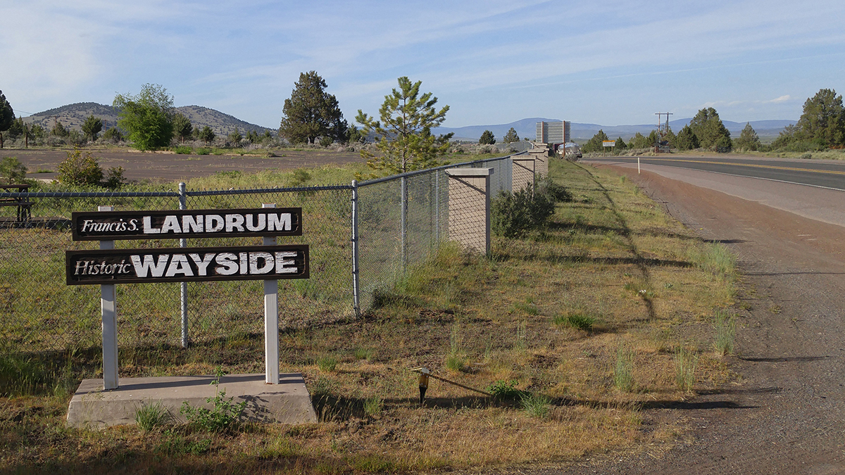 The Landrum Wayside at the Oregon-California border on Highway 97 is among historic sites to be featured in a proposed Klamath Heritage Trail.