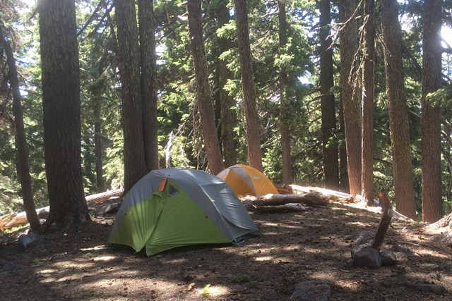 Backcountry camping at Crater Lake National Park. Image: CLNP/NPS