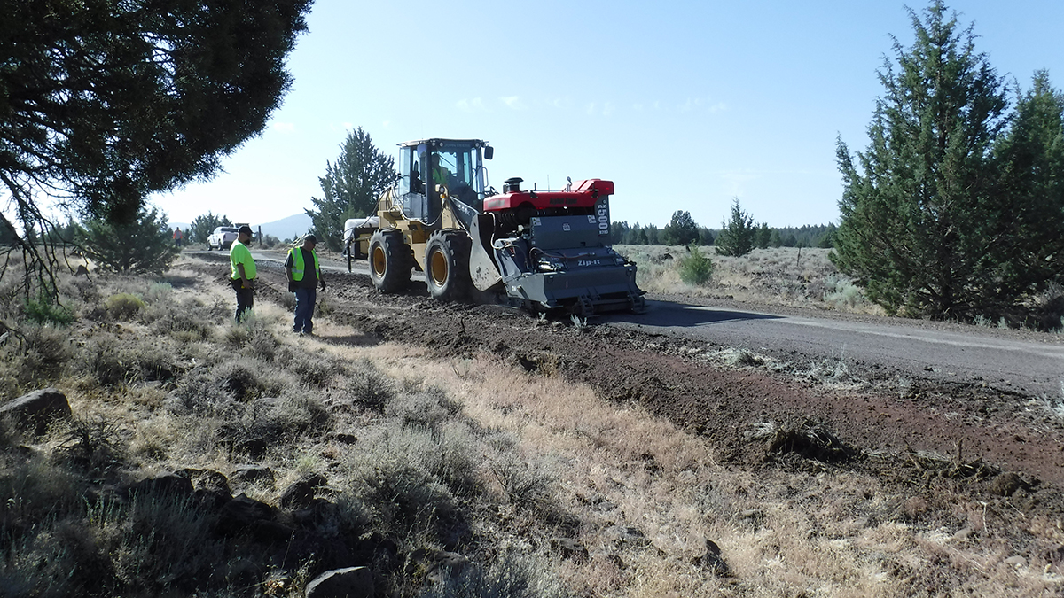 Officials are asking the public to slow down in road construction zones. Following a crash on Fishhole Creek Road near Bly, Oregon. (USFS)