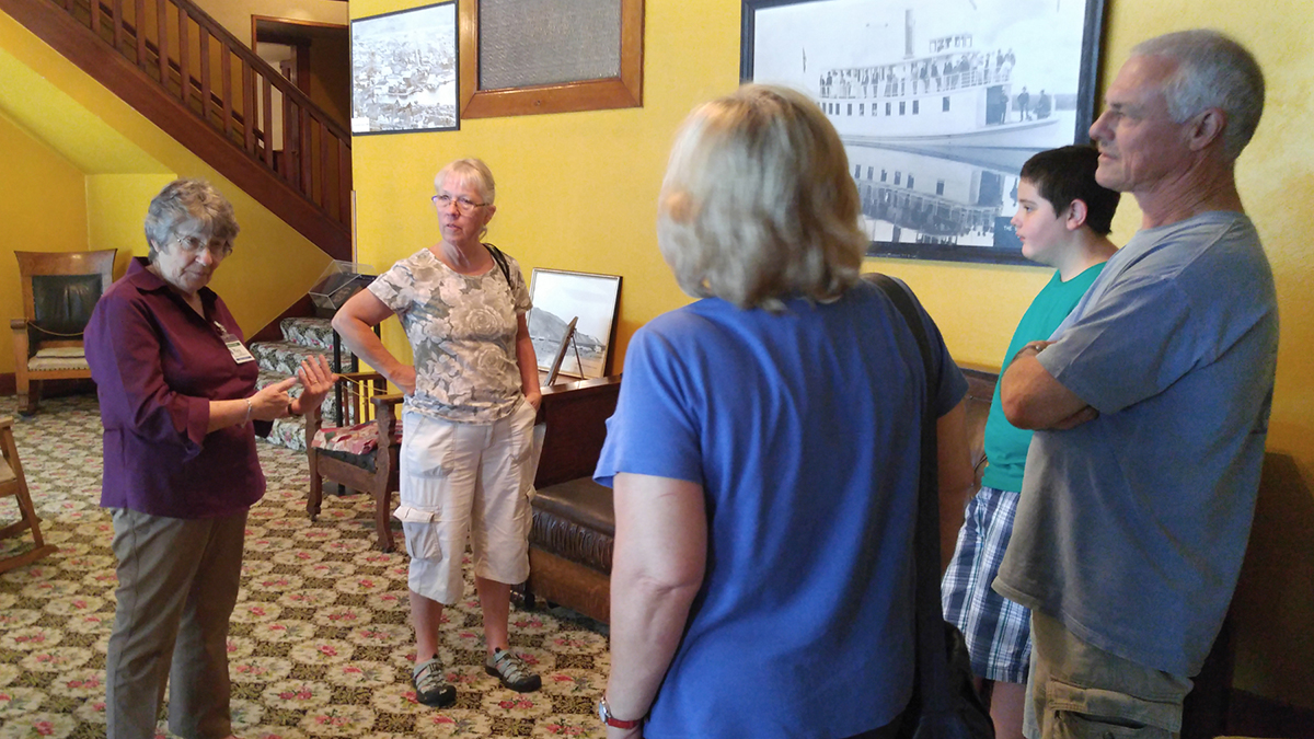 Tours of the Baldwin Hotel Museum building will be offered on Saturday afternoons through the end of September.