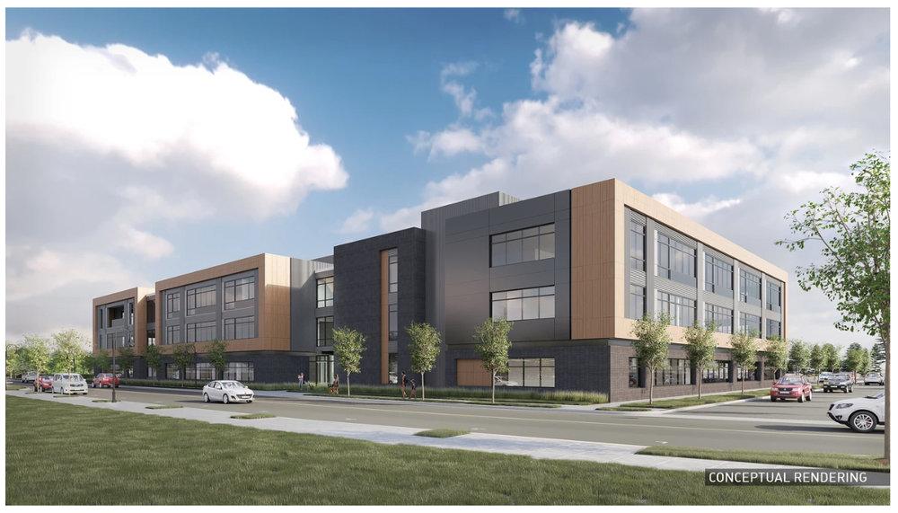 Conceptual Rendering of the proposed DHS facility located inside TimberMill Shores, Klamath Falls. (klamathfallsholdings.com)