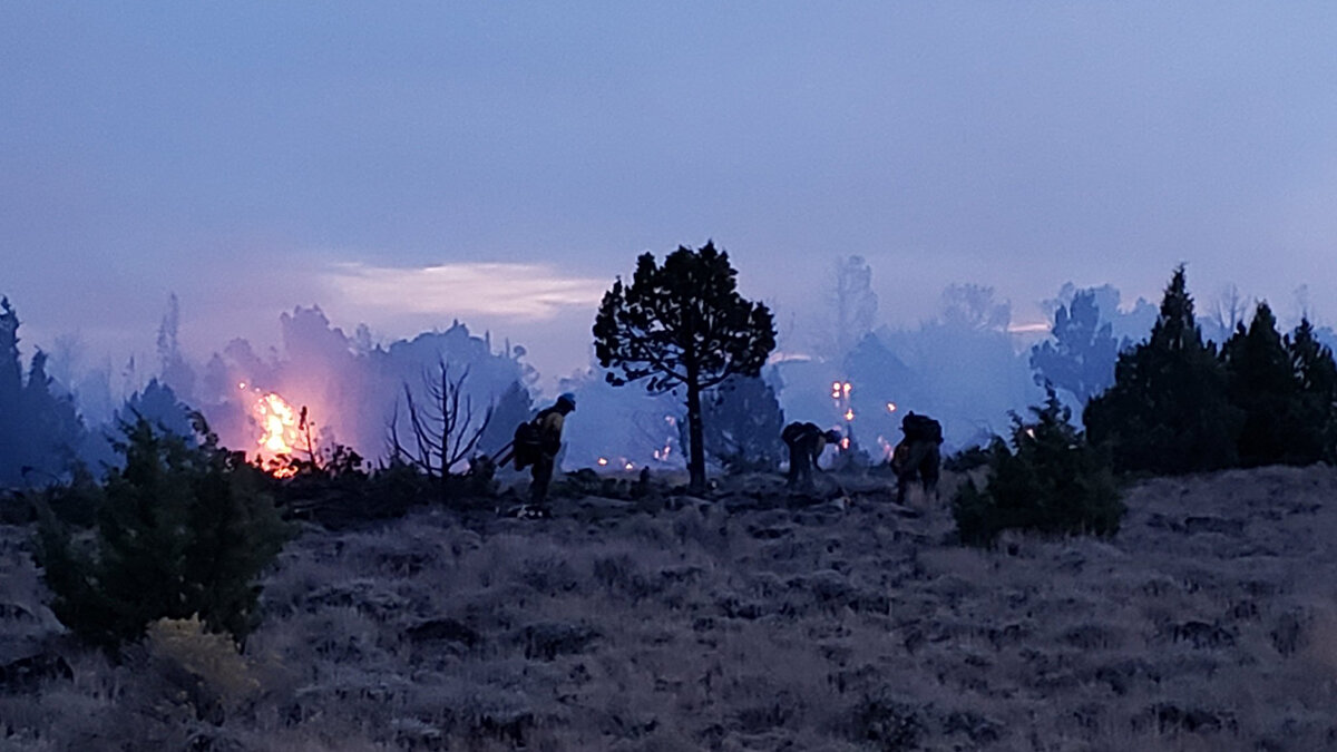 Fire crews on the Poker Fire. September 15, 2019 (SCOFMP)