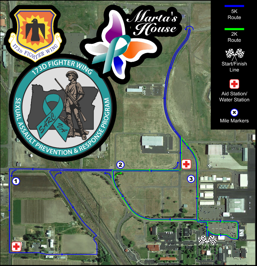 Race to Zero 2K/5K race map route