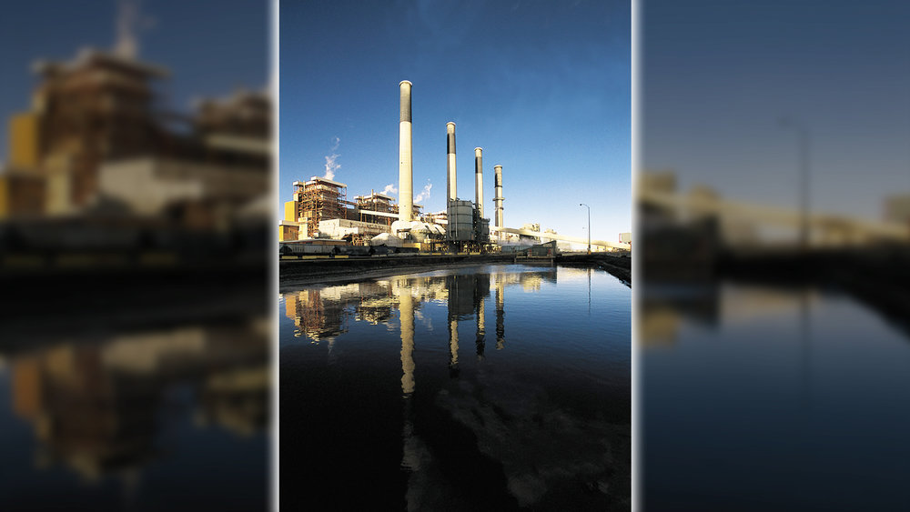 Photo of the Jim Bridger Coal Power Plant in Rock Springs, Wyoming (Pacific Power)