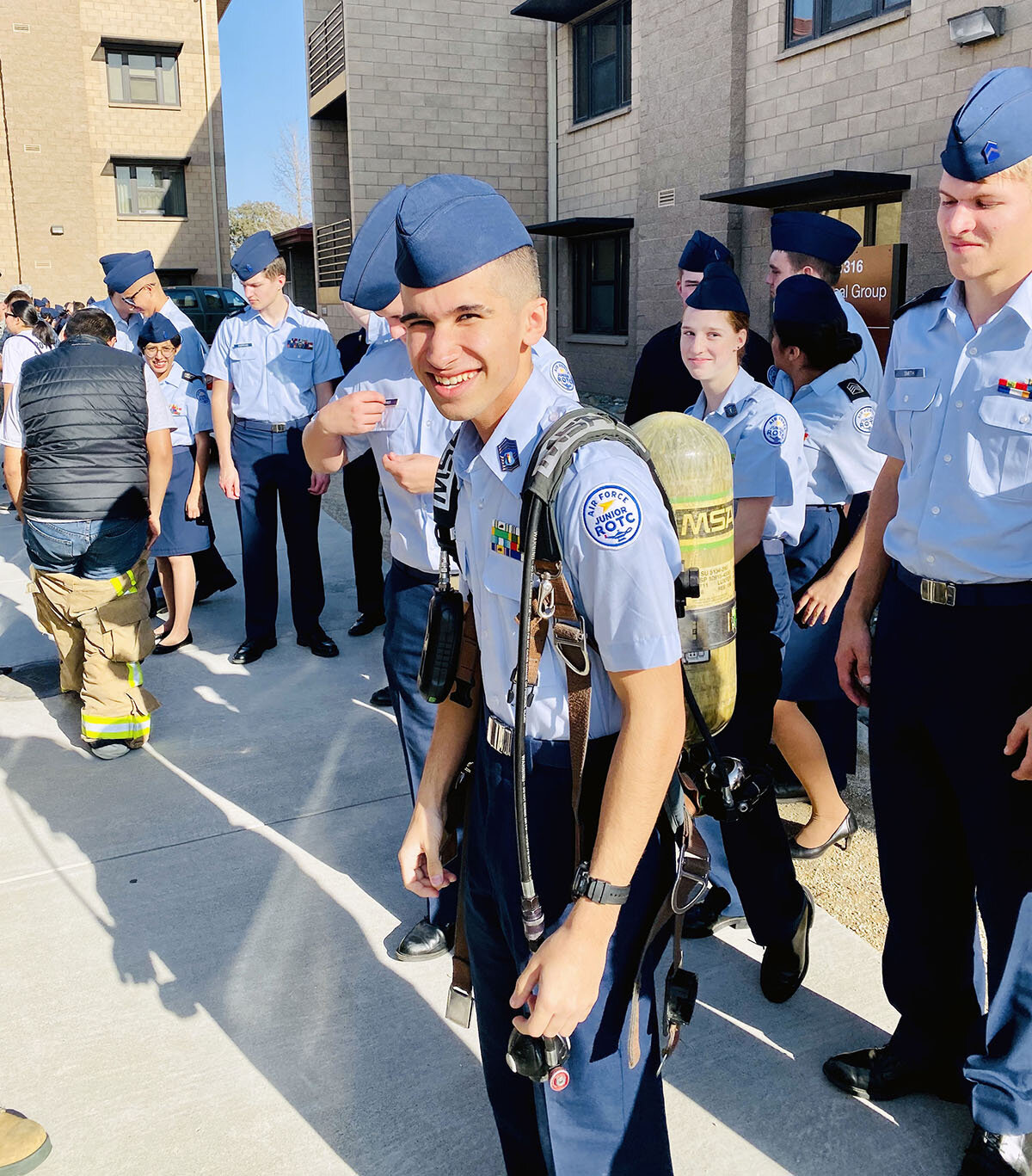 JROTC students visit Travis AFB, view career opportunities