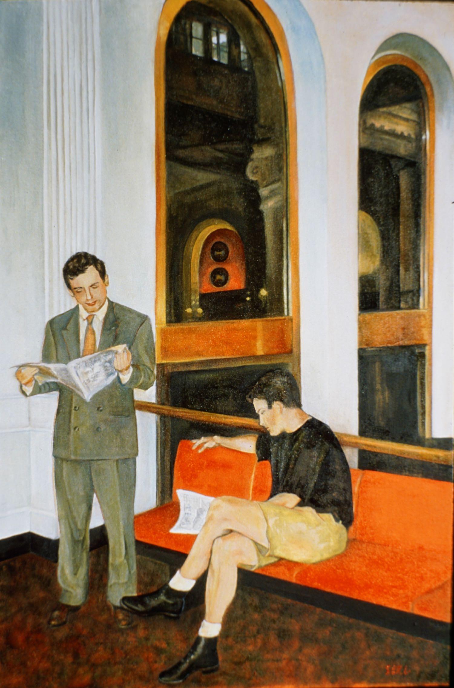 """Public Lobby, 36"""" x 24"""" oil/canvas"""