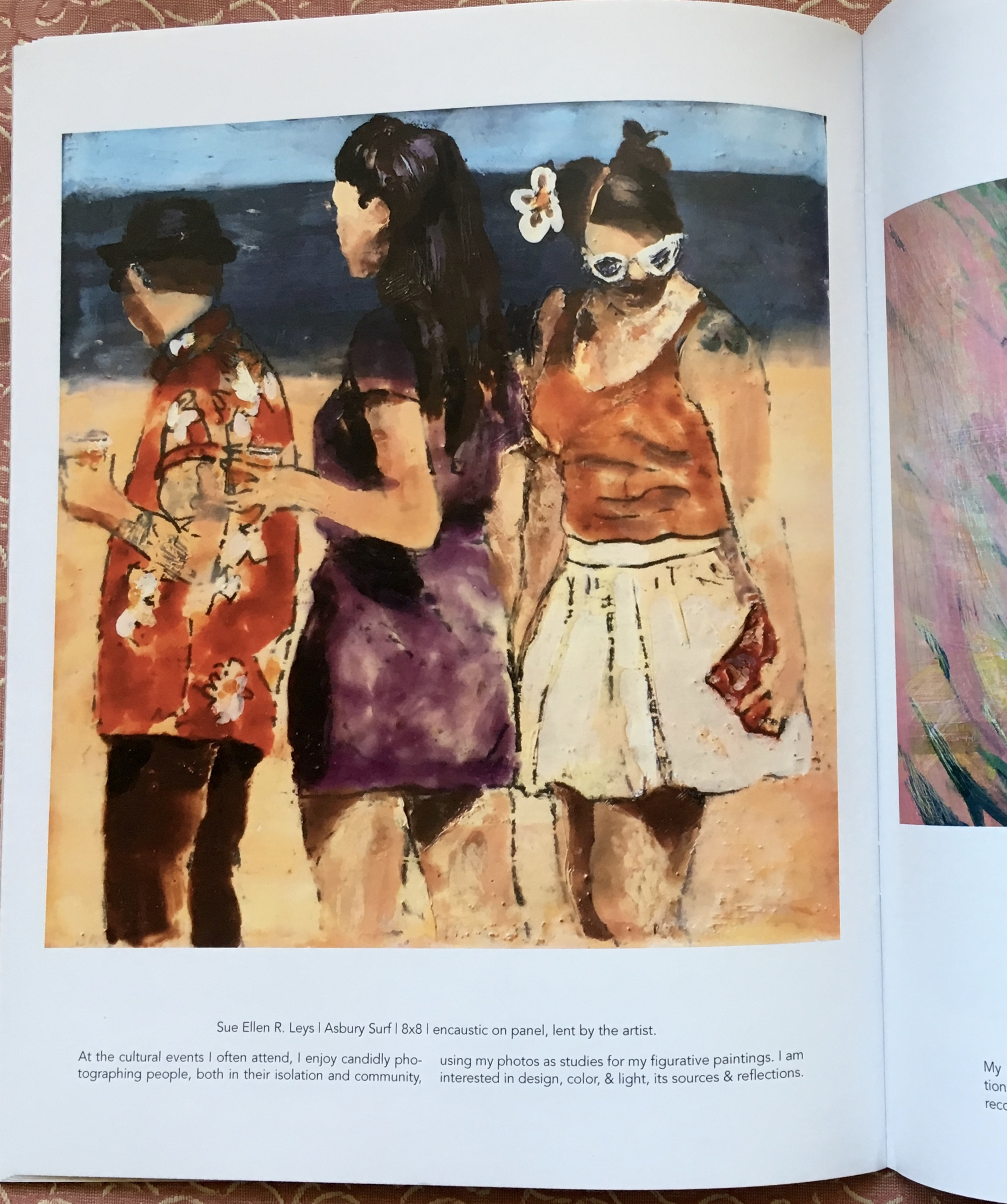 """The artist's page in """"Honoring the Legacy of David Park"""" Exhibition Catalogue."""