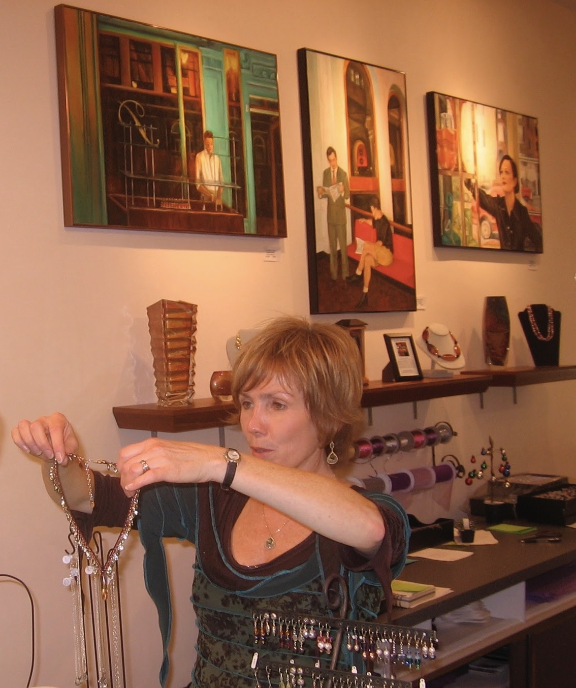 The Tenth Muse Gallery MaplEWOOD,NJ (Pictured: owner Mary Ann Spencer) -