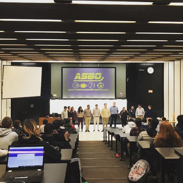 Thank you to everyone who came out last week for our informational. What an amazing start to the semester‼️ Look out for updates on upcoming speakers and events for the Spring!👀 #sports #sportsbusiness #ualbany