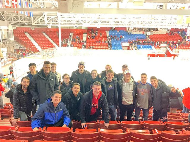 Wondering if we had an awesome time at the RPI hockey game tonight? We did! Avoid the FOMO our next trip will cause you and sign up A$AP via website/email link!!! #sportsbusiness #pucklife🏒