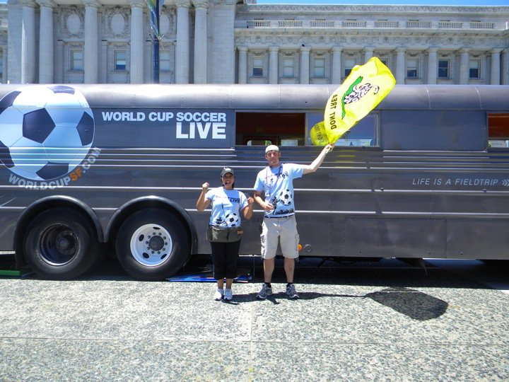 World Cup branded TeacherBus and T-Shirts 2010